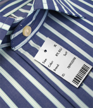 Bar Code Tag in use.